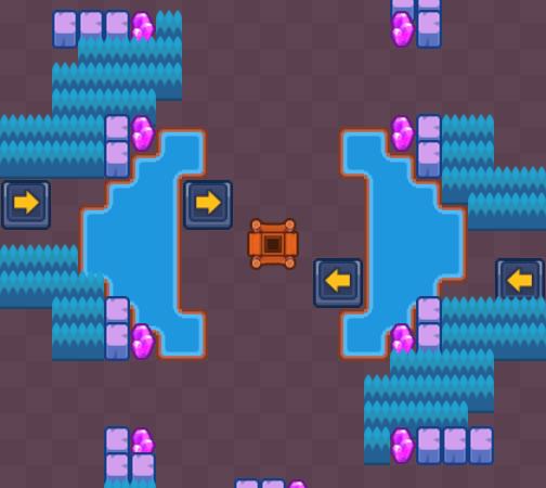 Карта Bouncing Echo – Gem Grab Maps