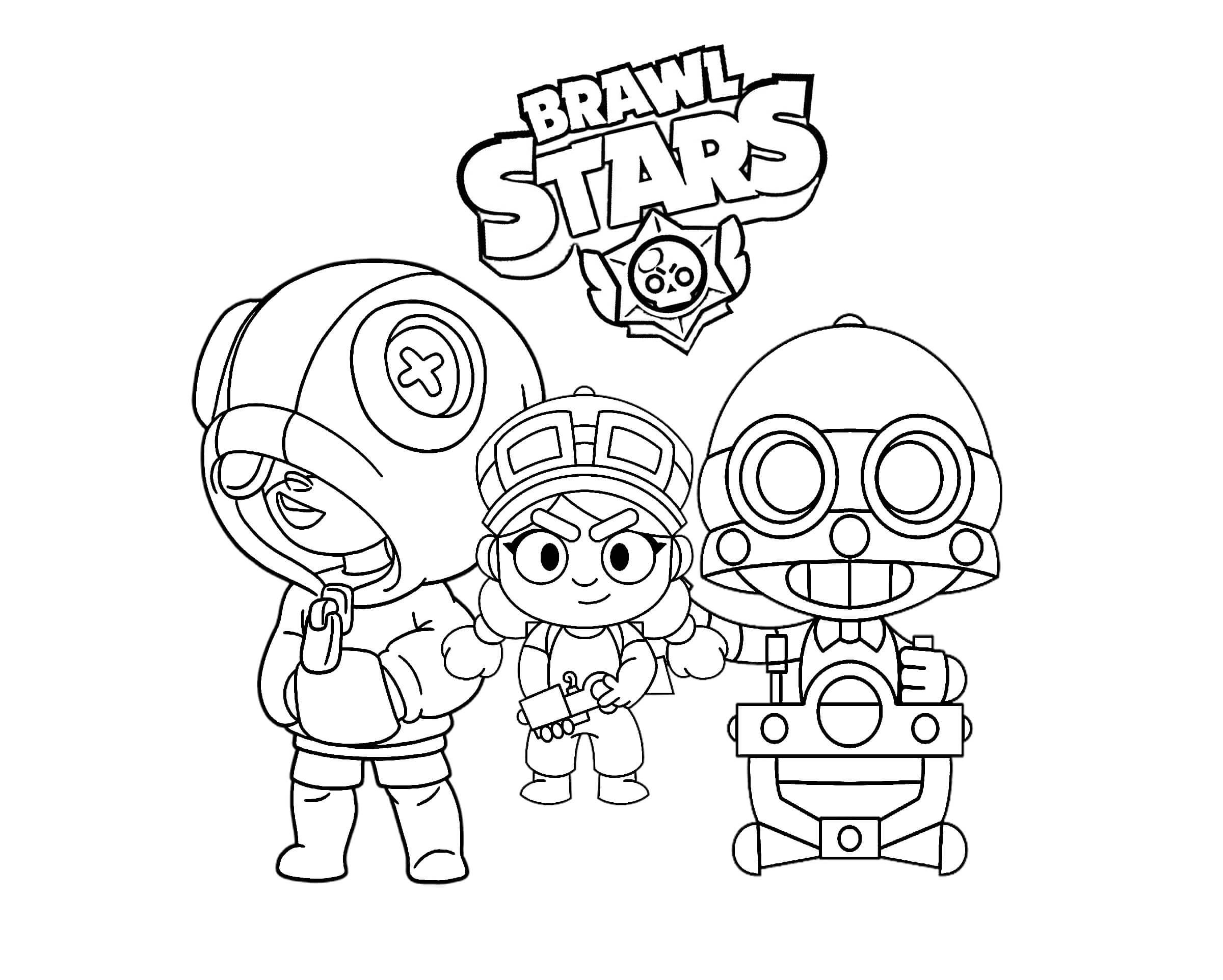 Раскраски Бравла Старса - Игра Brawl Stars - Бравл Старс ...