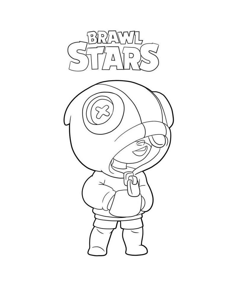 Раскраска Браво Старс Леон - Игра Brawl Stars - Бравл ...
